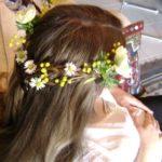 Blessingway tresse dans les cheveux