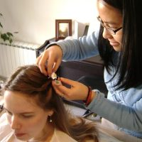 Blessingway tresses fleurs cheveux doula lyon