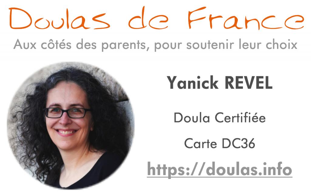 Carte professionnelle Doulas de France Yanick Lyon